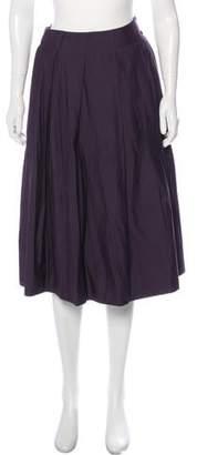 Bottega Veneta Virgin Wool-Blend Ruffled Skirt