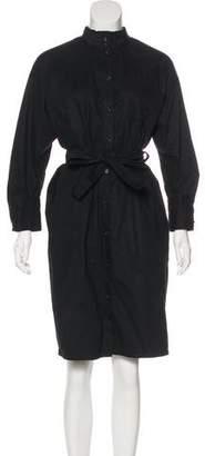 Atlantique Ascoli Belted Knee-Length Shirtdress