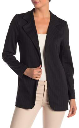 Modern Designer Fitted Knit Patterned Long Blazer