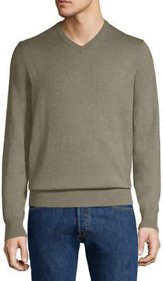 ST. JOHN'S BAY V Neck Long Sleeve Pullover Sweater
