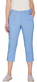 Denim & Co. Regular Stretch Woven Crop Pantswith Pockets