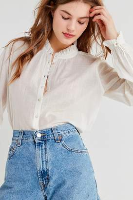 Urban Outfitters Madelyn Ruffle Collar Button-Down Top