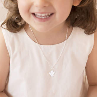Charm & Chain Merci Maman Personalised Guardian Angel Charm Chain Necklace