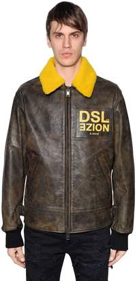 Diesel Noize Leather Aviator Jacket