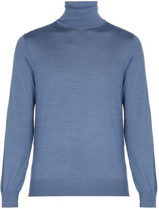 Ermenegildo Zegna Roll-neck cashmere and silk-blend sweater
