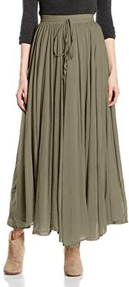 Blue Max Hera, Maxi Women's Skirt, Size 8 (Manufacturer Size: XS), Green (Light Olive 7050)