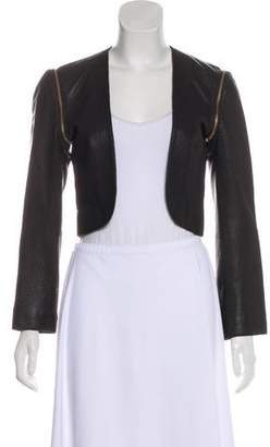 Loeffler Randall Faux Leather Cropped Jacket