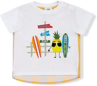 Fendi fantastic fresh surf print T-shirt