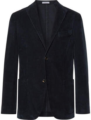 Boglioli Navy Slim-Fit Stretch-Cotton Corduroy Blazer