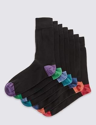 Marks and Spencer 7 Pairs of Heel & Toe Cool & FreshfeetTM Socks