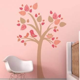 Trendy Peas Tree with Bird Nest Wall Decal