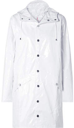 Rains Glossed-pu Rain Coat - White