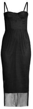 Milly Women's Tech Mesh Bustier Dress - Black - Size 0