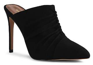 Reiss Women's Ameline Ruched Suede High-Heel Mules