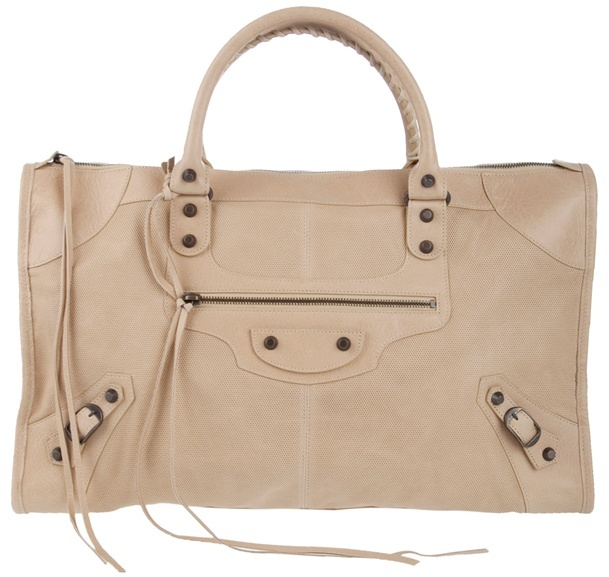 BALENCIAGA - 'Work ' large leather handbag