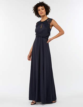 Yasmeen Lace Jersey Maxi Bridesmaid Dress