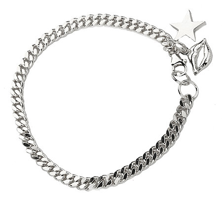 Jules Smith Silver Kiss Off Bracelet
