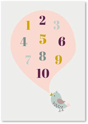 Americanflat Bird Numbers Print Art, Print Only