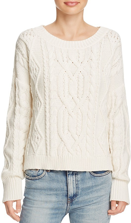 360 Sweater Spencer Chunky Cable Knit Sweater