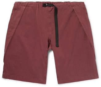 Stella McCartney Percy Wide-Leg Garment-Dyed Stretch-Cotton Twill Cargo Shorts