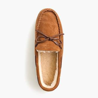 J.Crew Classic suede moccasin slippers