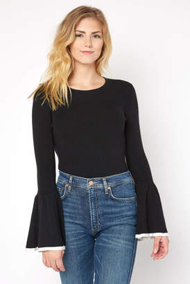 Matty M Fitted Bell Sleeve Top