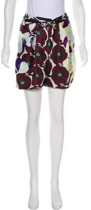 Diane von Furstenberg Silk High-Rise Shorts