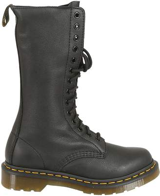 Dr. Martens 14 Eye Zip Lace-up Boots