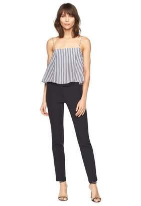 Milly Italian Cotton Silk Stripe Laurel Top