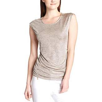 Calvin Klein Women's Sleeveless FOIL TOP with Buttons