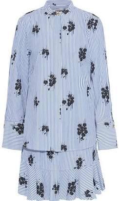 Derek Lam 10 Crosby Layered Printed Cotton-Poplin Mini Shirt Dress