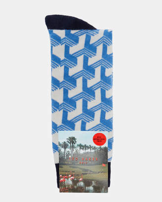 Ted Baker MAS Club print socks