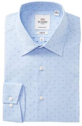Ben Sherman Diamond Dobby Tailored Slim Fit Dress Shirt