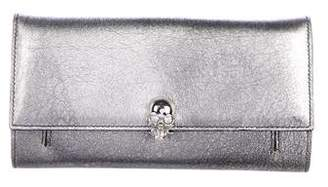 Alexander McQueen Skull-Embellished Leather Wallet on Chain