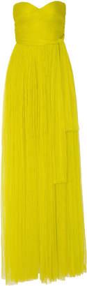 Maria Lucia Hohan Tiara Strapless Tulle Gown