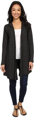 Allen Allen Stripe Hooded Cardigan $98 thestylecure.com
