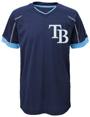 Majestic Tampa Bay Rays Emergence Crew T-Shirt, Big Boys (8-20)