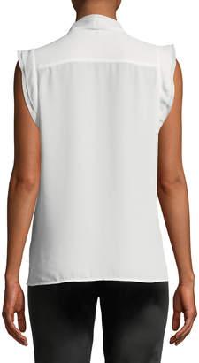 Karl Lagerfeld Paris Flutter-Sleeve V-Neck Blouse