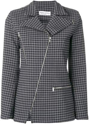 Sonia Rykiel check zipped blazer