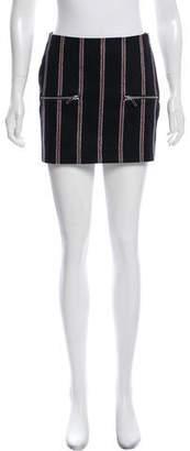 Elizabeth and James Wool Striped Mini Skirt