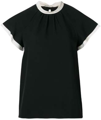 RED Valentino tied collar top