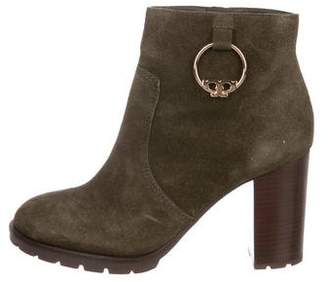 Tory Burch Round-Toe Suede Ankle Boots
