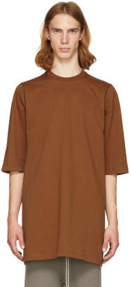 Rick Owens Brown Crewneck T-Shirt