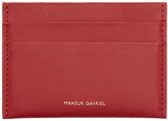 Mansur Gavriel Red Credit Card Holder