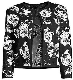 St. John Women's Floral Knit Cardigan