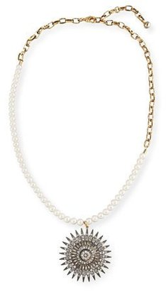 Lulu Frost Beacon Starburst Pendant Necklace w/ Pearls $375 thestylecure.com