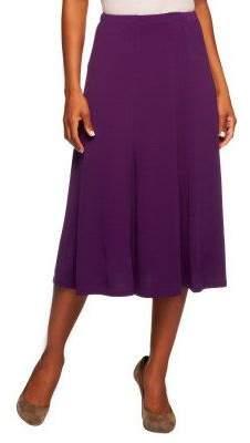 Susan Graver Liquid Knit Solid 6-gore Skirt