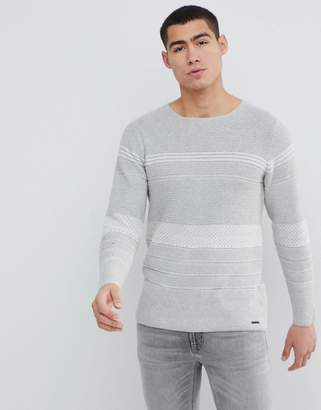 ONLY & SONS Knitted Sweater With Mixed Stripe
