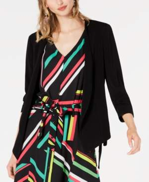 Bar III Open-Front Tie-Side Jacket, Created for Macy's