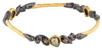 Alexis Bittar Pyrite & Crystal Elements Phoenix Rocky Bangle